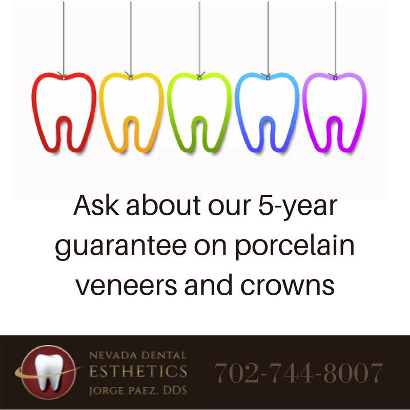 5 Year Guarantee on Porcelain Veneers | Las Vegas
